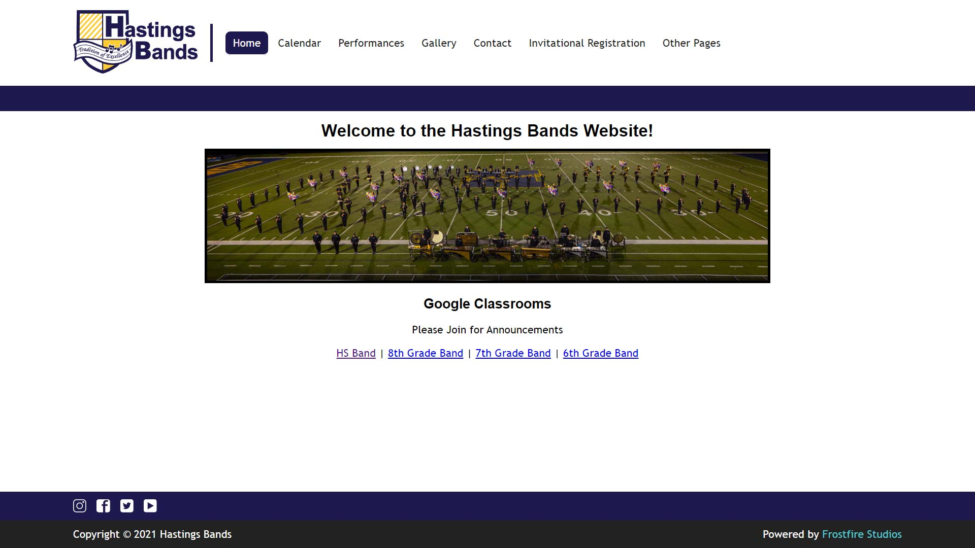 Hastings Bands Website